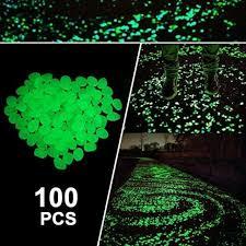 garden pebbles glow in the dark decorative luminous outdoor walkway landscape