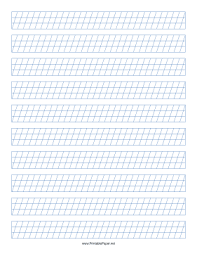 Printable Calligraphy Guide Paper