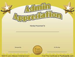 Administrative Professional Certificate Funny Award Ideas Administrative Assistant Day Free