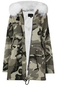 las camouflage off white fur hood parka coat uk size 8 14 return to previous page fancybox fancybox