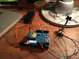 rc car using arduino xbee radios reactive music 2 arduino motor shield wireless sd shield xbee motor shield hooked to rc car motor