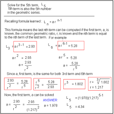 tutorial on geometric series calculation instruction on how to use the calculator