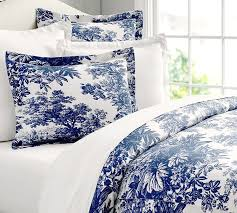 blue and white toile bedding bedroom bedrooms