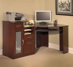 Compact Corner Desk Furniture Solid Wood Corner Computer Desk With Double Storage
