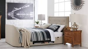 Manchester Bedroom Furniture The Estates Media Queen Bed Is Ideal For Media Lovers And Is