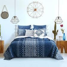 home fashions indigo 3 piece quilt set boho chic bedding crib
