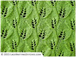 Leaf Knitting Pattern Simple 48 Overlapping Leaves Lace Knitting Stitches