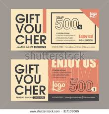 coupon design stock vector gift voucher template with vintage pattern retro gift