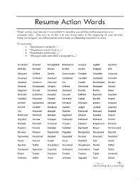 Resume Power Words List Good Action Words For Resume Skinalluremedspa Com