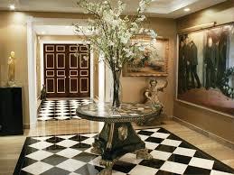 image of round foyer table decorating ideas
