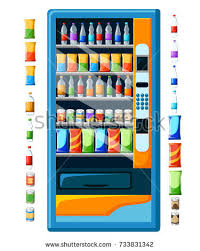 How To Get Free Snacks From A Vending Machine Impressive Vintage Vending Machine Advertisement Poster Snacks Stock Vector