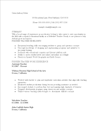 Fresher Job Resume Resume For Teaching Job Fresher Template Templates At
