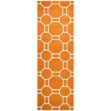 rizzy home azzura hill orange geometric 3 ft x 8 ft outdoor runner rug