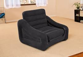 intex inflatable furniture. interesting furniture intex inflatable air chair with pull out twin bed mattress sleeper 68565e  black intended furniture