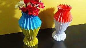 Paper Flower Base Paper Flower Vase Youtube Unique Diy Flower Vase Flower Design And