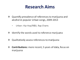 References To Marijuana Alcohol In Popular Music Renee M