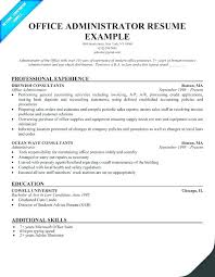 Administrative Assistant Resume Skills Office Assistant Resume ...