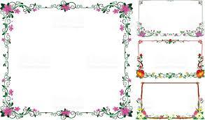 frame design flower. collection frame flowers vector design royalty-free stock art flower