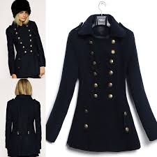 chic military style winter coat womens fashion coats