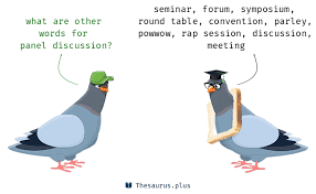 synonyms for panel discussion