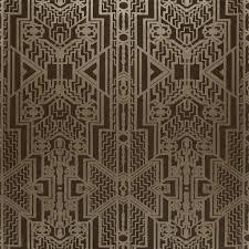 Ralph Lauren Art Deco Behang Brandt Geometric Bronze