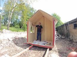 tiny houses prefab. Prefab Tiny House Construction First Part Houses N