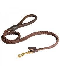 dog leather braided dog leash