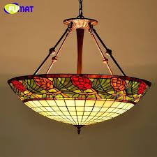 stained glass pendant light lamp country style living room hotel led suspension decoration outdoor