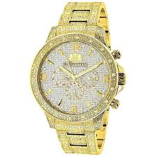 gold watches online iced out mens diamond luxurman watch 1 25ct gold watches for men luxurman
