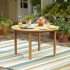 Round Country Kitchen Table Summerton Teak Round Dining Table Reviews Birch Lane