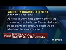 Facebook responds to <b>bombshell New York</b> Times article - YouTube