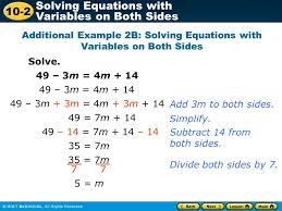 additional example 2b solving equations with variables on both sides