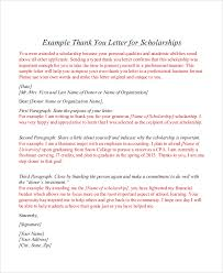 Thank You Letter For Scholarships Simple 44 Thank You Letters Sample Templates