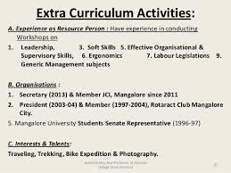 Extra Curricular Activities In Resume Sample 10 Astounding How To