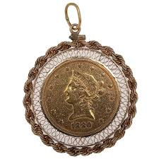 1880 gold eagle ten dollar coin pendant with frame by cowan 39 s auctions 660366 bidsquare
