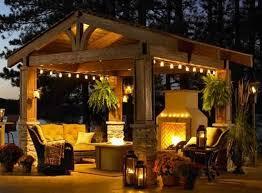 outdoor pergola lighting ideas. Elegant Small Backyard Gazebo Ideas Pergola Courtyard Garden Lighting Outdoor E
