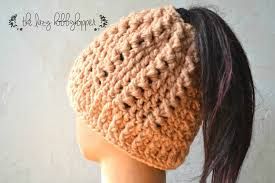 Free Crochet Pattern For Messy Bun Hat Beauteous The Best Free Crochet Ponytail Hat Patterns Aka Messy Bun Beanies
