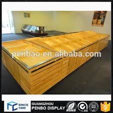 Wooden Fruit Display Stands Custom Hot Factory Price Wooden Vegetable And Fruit Display Counter Stand
