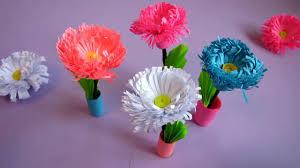 Paper Quilling Flower Bokeh Small Paper Flower Pot Handmade Craft Home Decor Quilling Miniature 3d Flower Bouquet Pot