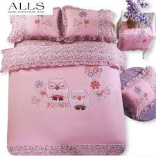 owl bedding set twin 100 cotton sets cartoon embroidery bed linen cat 19