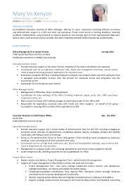 mary ve kenyon resume