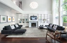 Huge Living Room Large Living Rooms Two Sided Industrial Fireplace Design Lloyd