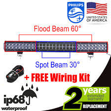 ford f53 car truck fog driving lights 28inch 300w philips led spot flood combo 4wd work light bar offroad ute lamp us fits ford f53