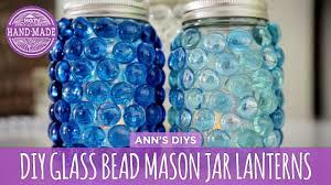 diy glass bead mason jar lanterns