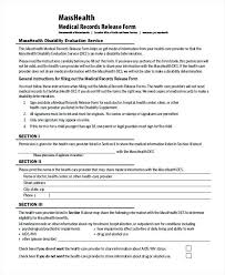 Free Printable Medical Forms Records Release Form – Stiropor Idea