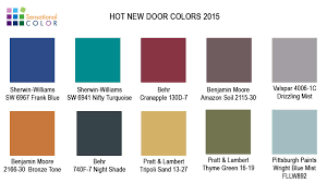 Hot New Door Colors 2015