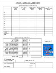Fundraiser Order Form Template Word Radiofama Eu Excel Free