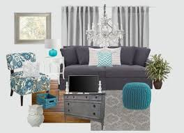 gray and turquoise living rooms - Google Search