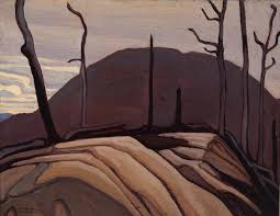 lawren s harris c c ll d 1885 1970 rock and hill lake superior sketch cxii 1922 oil on beaverboard 10 ½ x 14 in 26 7 x 35 6 cm