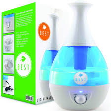 Amazon.com: Best Cool Mist Humidifier UltraSonic Steam Vaporizer   Whisper  Quiet Technology, Moistair Electric With Warm LED Light: Home U0026 Kitchen